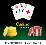 casino vector objects. | Shutterstock .eps vector #520931341