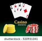 casino vector objects. | Shutterstock .eps vector #520931341