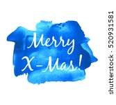 merry x mas vector illustration ... | Shutterstock .eps vector #520931581