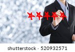 business hand check mark with... | Shutterstock . vector #520932571