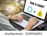 businessman using on computer... | Shutterstock . vector #520936501