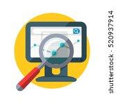 seo banner. focused magnifying... | Shutterstock .eps vector #520937914