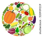 vector collection of fresh... | Shutterstock .eps vector #520939219