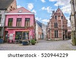 the narrow historic streets and ... | Shutterstock . vector #520944229