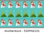winter snowman ornament pattern ...   Shutterstock .eps vector #520946131