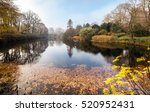 Beautiful Autumn Park With Lake