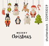 Christmas Design With Hanging...