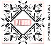 set of vector barber shop... | Shutterstock .eps vector #520953871