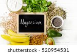 products rich in magnesium.... | Shutterstock . vector #520954531