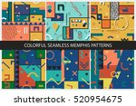 collection of seamless abstract ... | Shutterstock .eps vector #520954675