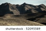 New Zealand landscape - rugged hills during drought in the South Island region of Marlborough - stock photo
