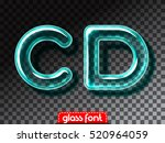 super realistic glass alphabet... | Shutterstock .eps vector #520964059