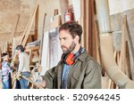 artisan working and checking to ... | Shutterstock . vector #520964245