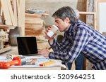 artisan taking a coffee break...   Shutterstock . vector #520964251