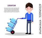 vector flat illustration with... | Shutterstock .eps vector #520965229