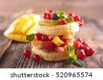 creative fruit dessert | Shutterstock . vector #520965574