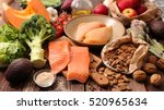 healthy food concept | Shutterstock . vector #520965634