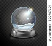realistic christmas glass snow...