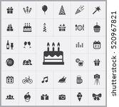 birthday cake icon. birthday... | Shutterstock .eps vector #520967821