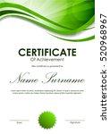 certificate of achievement... | Shutterstock .eps vector #520968967