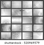 big set of grey tech... | Shutterstock .eps vector #520969579