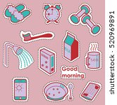 set of case subjects. good... | Shutterstock .eps vector #520969891