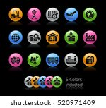 industry and logistics icons  ... | Shutterstock .eps vector #520971409