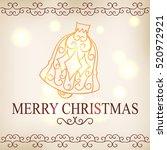 postcards of christmas symbols... | Shutterstock .eps vector #520972921