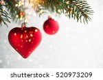 Red Christmas Ornaments  Heart...