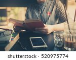 sunday morning lifestyle scene... | Shutterstock . vector #520975774