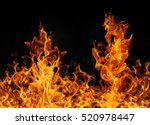 fire flames on black background | Shutterstock . vector #520978447