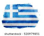 watercolor flag background.... | Shutterstock . vector #520979851