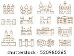 castles   fortress brown line... | Shutterstock .eps vector #520980265