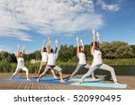fitness  sport  and healthy... | Shutterstock . vector #520990495