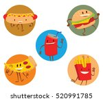 vector set of round frames with ... | Shutterstock .eps vector #520991785