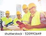 business  building  teamwork... | Shutterstock . vector #520992649