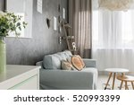 living room with sofa  small...   Shutterstock . vector #520993399