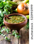 traditional chilean spicy sauce ... | Shutterstock . vector #520993999