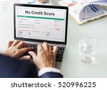 no credit score debt deny... | Shutterstock . vector #520996225