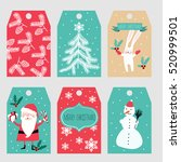 christmas labels | Shutterstock .eps vector #520999501