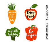 vegan labels set.   cocept.... | Shutterstock .eps vector #521000905