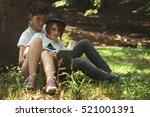 young amazing  students couple... | Shutterstock . vector #521001391