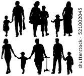 Black Silhouettes Family On...