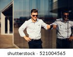 high fashion look.young stylish ... | Shutterstock . vector #521004565