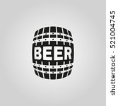 the beer icon. cask and keg ...