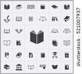 book icon. books icons... | Shutterstock .eps vector #521007937