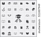 education icon. books icons... | Shutterstock .eps vector #521007949