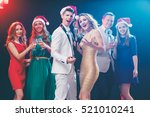 merry christmas and happy new...   Shutterstock . vector #521010241