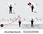 business concept with... | Shutterstock .eps vector #521010544