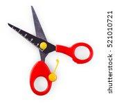 Children's Scissors Isolated O...